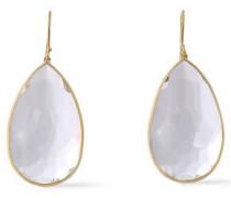 18-karat gold quartz earrings
