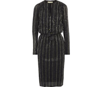 Jossua Metallic Striped Gauze Dress Black