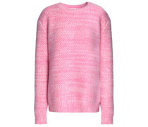 Marled angora-blend sweater