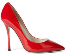 Woman Decollete Patent Leather Pumps Red