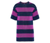Metallic striped jacquard-knit top
