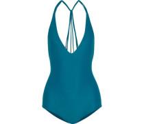 Ipanema Strap-detailed Halterneck Swimsuit Storm Blue