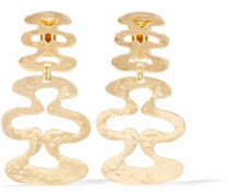 Gold-tone clip earrings