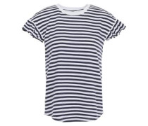 Striped Cotton-jersey T-shirt White