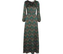 Santina printed silk-cloqué maxi dress