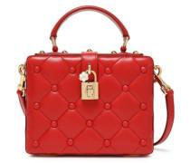 Dolce Box Studded Quilted Leather Shoulder Bag Claret Size --
