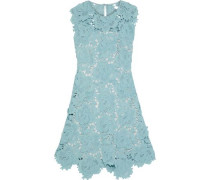 Fjola Guipure Lace Mini Dress Sky Blue