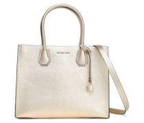Mercer Metallic Pebbled-leather Tote Gold Size --