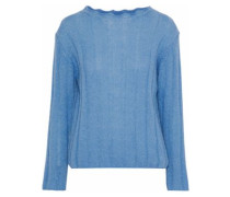 Carolee ribbed mohair-blend sweater