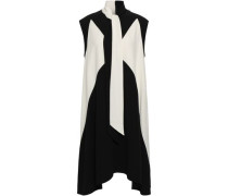 Two-tone Cady Dress Black