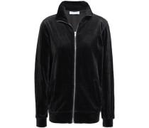 Cotton-blend Velvet Jacket Charcoal