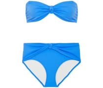 The Whitney Bandeau Bikini Azure