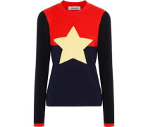 Intarsia Wool-blend Sweater Multicolor