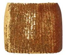 Sequined wool mini skirt