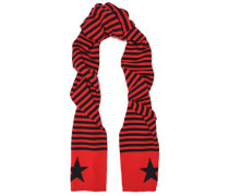 Striped Wool And Cashmere-blend Scarf Red Size --
