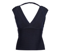 Woman Aria Cutout Bandage Top Midnight Blue