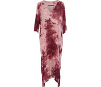 Tie-dyed crepe maxi dress