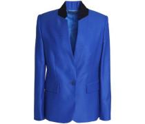 Wool-piqué blazer