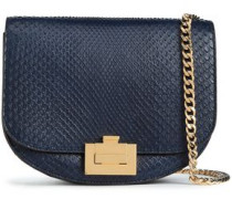 Python Shoulder Bag Midnight Blue Size --