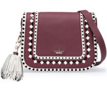 Jasper Crown Street embellished textured-leather shoulder bag