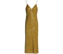 Sequined silk midi dress
