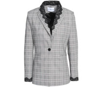 Lace-trimmed Prince of Wales blazer