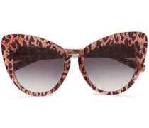 Cat-eye Leopard-print Acetate Sunglasses Animal Print Size --