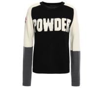 Intarsia Merino Wool Sweater Navy