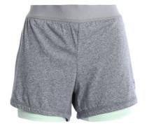 Layered tech and stretch-jersey shorts