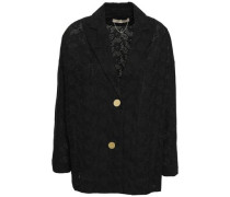 Broderie Anglaise Cotton Blazer Black