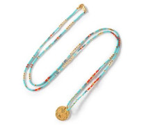 Bead and gold-tone necklace