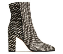 Printed calf hair ankle boots