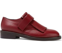 Fringed Leather Brogues Claret