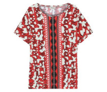 Vita Printed Stretch-jersey T-shirt Red