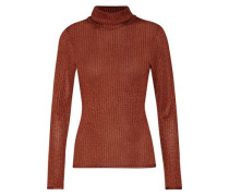 Billi metallic stretch-knit turtleneck sweater