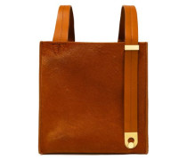 Exchange Cube Leather-trimmed Calf Hair Tote Camel Size --
