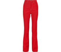 High-rise Bootcut Jeans Tomato Red  4