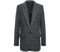 James Checked Wool-blend Twill Blazer Dark Gray