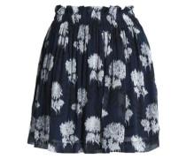 Floral-print georgette mini skirt