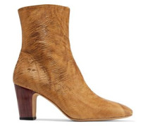 Onasis sliced leather ankle boots