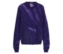 Open-knit mohair-blend sweater