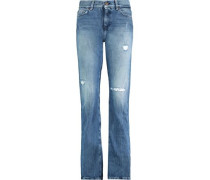 Roll Up straight high-rise jeans