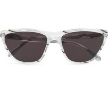 Cat-eye Printed Acetate Sunglasses White Size --