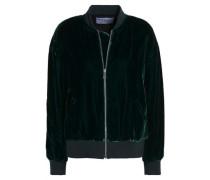 Velvet Bomber Jacket Emerald
