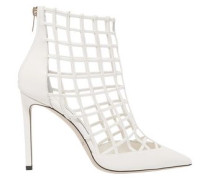 Woman Sheldon 100 Caged Leather Ankle Boots Ivory