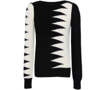 Intarsia-knit Sweater Black