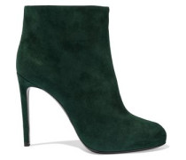 Suede Ankle Boots Dark Green