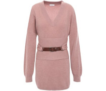 Belted Cashmere Sweater Antique Rose