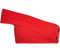 Two-tone High-rise Bikini Briefs Red