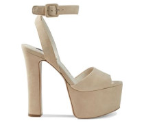 Woman Reeta Suede Platform Sandals Blush